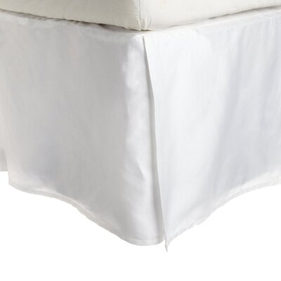 Superior Long Staple Cotton 300 Thread Count Bed Skirt Color: White, Size: King