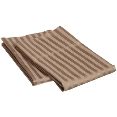 Cortes 800 Thread Count Stripe Pillowcase Set Color: Taupe, Size: Standard Striped