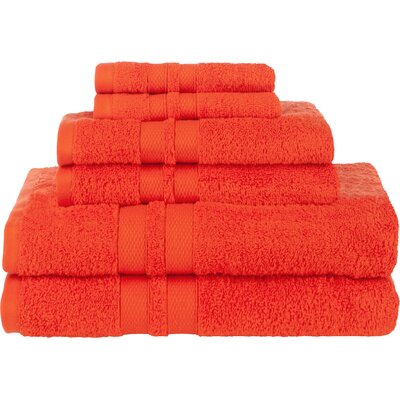 Patric Ultra Soft 6 Piece Towel Set Color: Tangerine