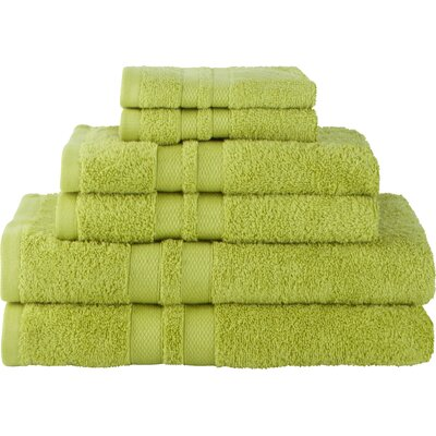 Superior Ultra Soft 6 Piece Towel Set Color: Celery