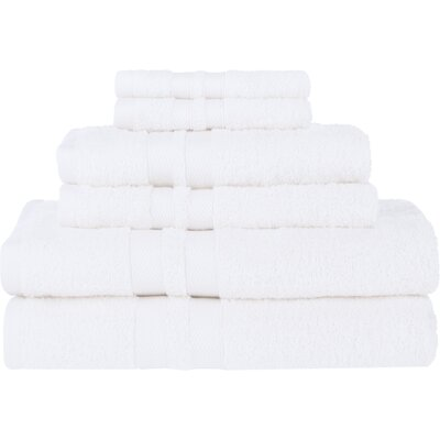 Patric Ultra Soft 6 Piece Towel Set Color: White