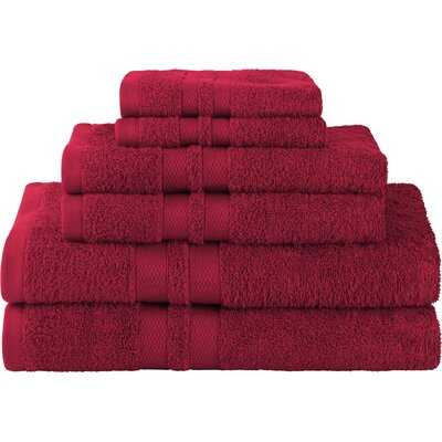Patric Ultra Soft 6 Piece Towel Set Color: Maroon
