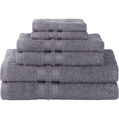 Patric Ultra Soft 6 Piece Towel Set Color: Charcoal