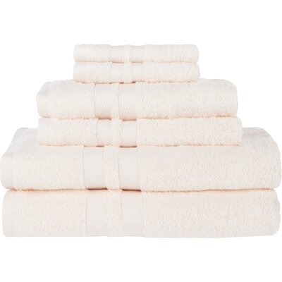 Superior Ultra Soft 6 Piece Towel Set Color: Ivory