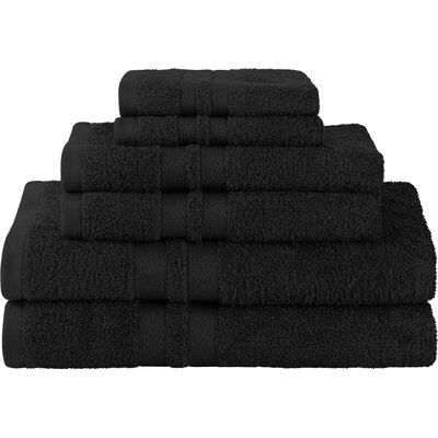 Patric Ultra Soft 6 Piece Towel Set Color: Black