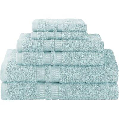 Patric Ultra Soft 6 Piece Towel Set Color: Cyan