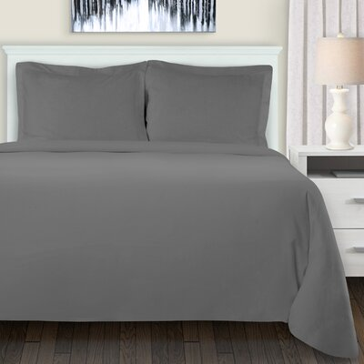 Metropole Duvet Cover Set Color: Gray, Size: King