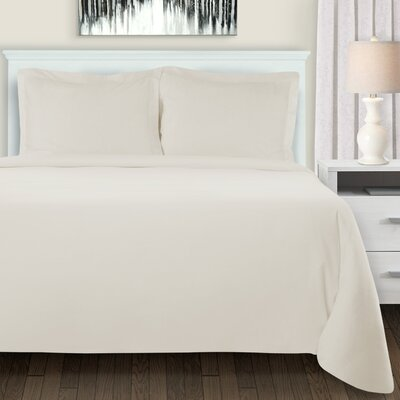 Metropole Duvet Cover Set Color: Ivory, Size: Full/Double