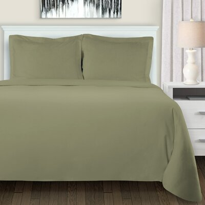 Mandy Duvet Cover Set Color: Sage, Size: King