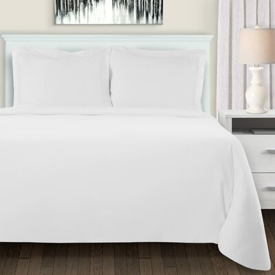 Mandy Duvet Cover Set Color: White, Size: Full/Double