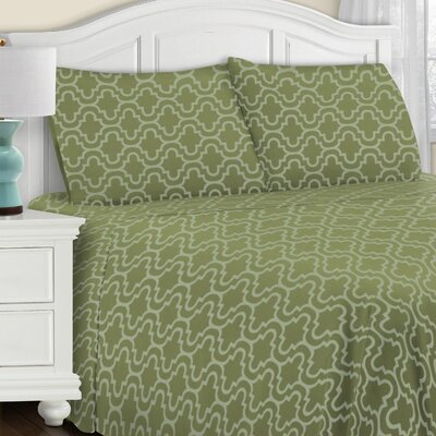 Benito All Season Pillowcase Set Color: Sage Trellis, Size: Standard