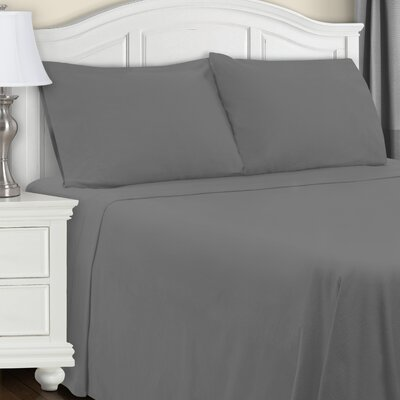 Cullen Flannel Sheet Set Color: Gray, Size: Twin