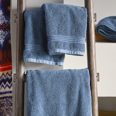 Hyde 6 Piece Cotton Towel Set Color: Navy Blue