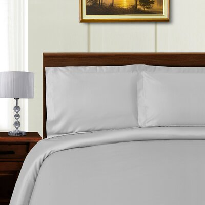 Cullen 3 Piece Duvet Set Color: Grey, Size: King