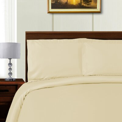 Cullen 3 Piece Duvet Cover Set Color: Ivory, Size: King/California King