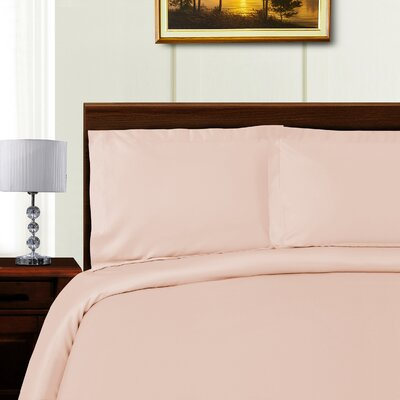 Cullen 3 Piece Duvet Set Color: Pink, Size: Full/Queen