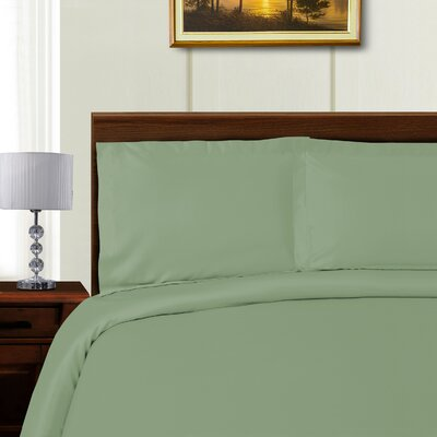 Cullen 3 Piece Duvet Set Color: Sage, Size: Full/Queen