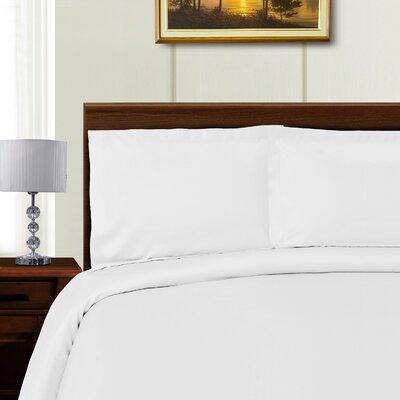 Cullen 3 Piece Duvet Set Color: White, Size: King