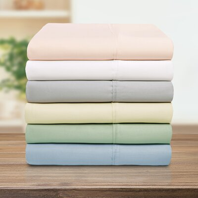 Cullen Solid Pillowcase Color: White, Size: Twin