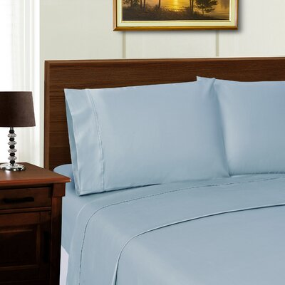 Cullen Solid Pillowcase Color: Blue, Size: Standard