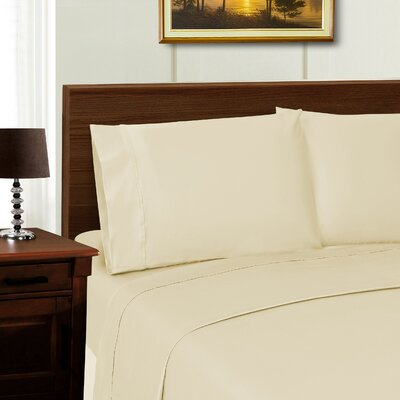 Cullen 600 Thread Count Sheet Set Color: Ivory, Size: Full/Double