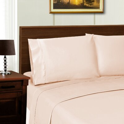 Cullen 600 Thread Count Sheet Set Color: Pink, Size: Full/Double