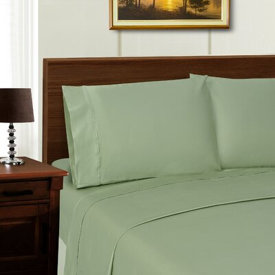 Larksville 600 Thread Count Sheet Set Color: Sage, Size: Full/Double