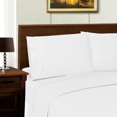 Cullen Solid Pillowcase Color: White, Size: Standard