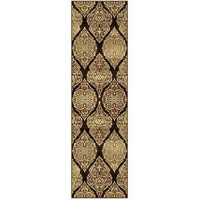 Dixfield Brown/Beige Area Rug Rug Size: 27 x 8