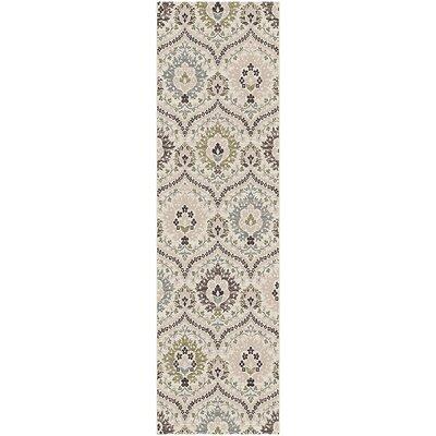 Horst Cream/Ivory Area Rug Rug Size: Runner 27 x 8