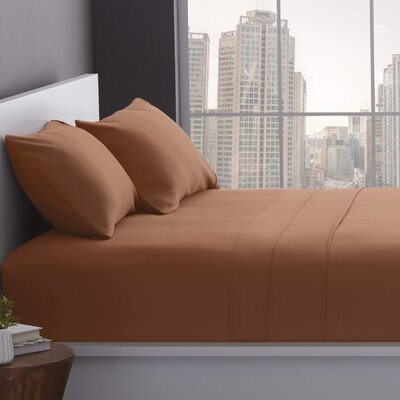 1200 Thread Count Cotton Blend Sheet Set Color: Taupe, Size: Full