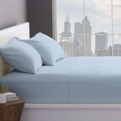 1200 Thread Count Cotton Blend Sheet Set Size: Split King, Color: Light Blue