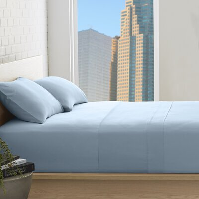 Superior 800 Thread Count 100% Egyptian-Quality Cotton Sheet Set Color: Light Blue, Size: Full
