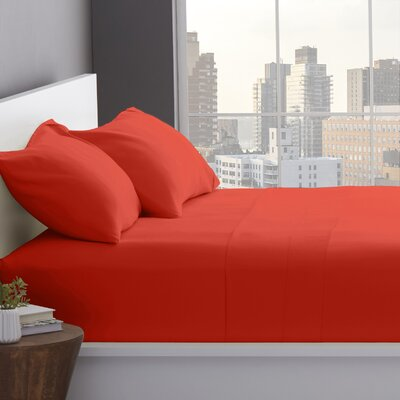 1200 Thread Count Cotton Blend Sheet Set Color: Coral, Size: Split King