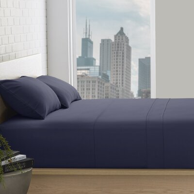 Superior 800 Thread Count 100% Egyptian-Quality Cotton Sheet Set Color: Navy Blue, Size: Queen