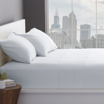 1200 Thread Count Cotton Blend Sheet Set Color: White, Size: Queen