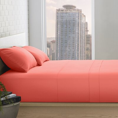 Superior 800 Thread Count 100% Egyptian-Quality Cotton Sheet Set Color: Coral, Size: Queen