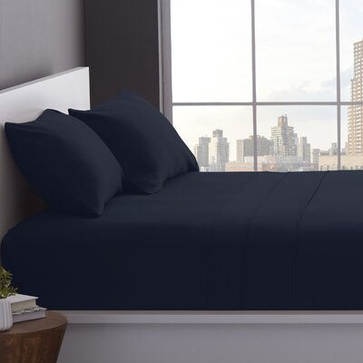1200 Thread Count Cotton Blend Sheet Set Color: Navy Blue, Size: Queen