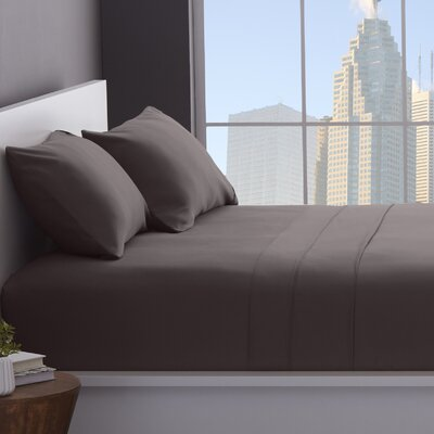 1200 Thread Count Cotton Blend Sheet Set Color: Grey, Size: Split King
