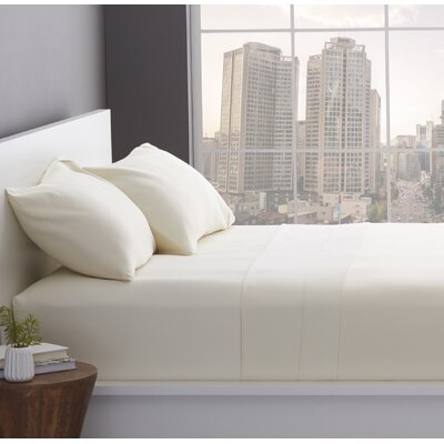 1200 Thread Count Cotton Blend Sheet Set Color: Ivory, Size: Queen