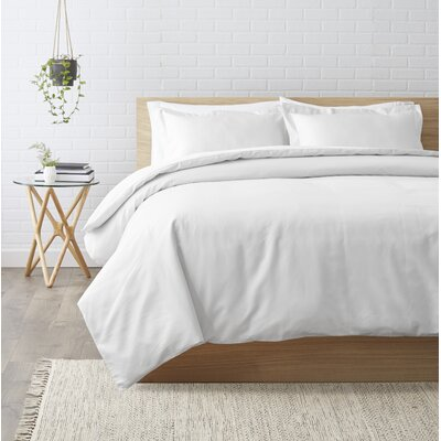 Superior Egyptian-Quality Cotton 3 Piece Duvet Set Color: White, Size: King/California King