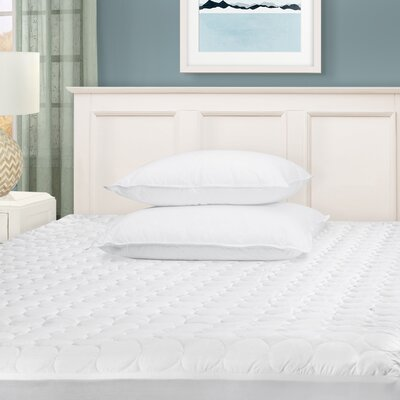Superior Hypoallergenic Deep Pocket Quilted 1 Microfiber Mattress Pad Size: Full
