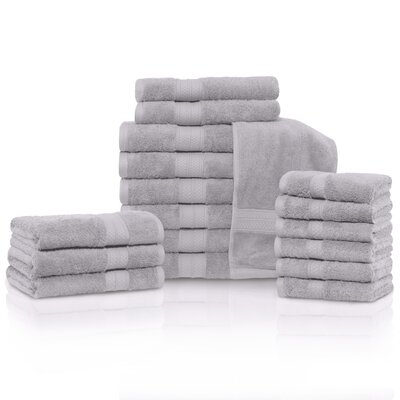 Cullen 18 Piece Towel Set Color: Chrome