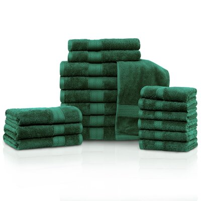Cullen 18 Piece Towel Set Color: Hunter Green