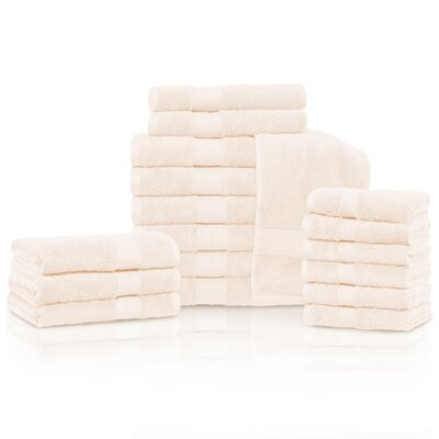 Cullen 18 Piece Towel Set Color: Ivory