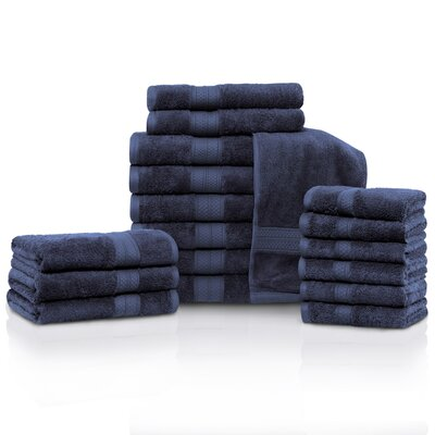 Cullen 18 Piece Towel Set Color: River Blue