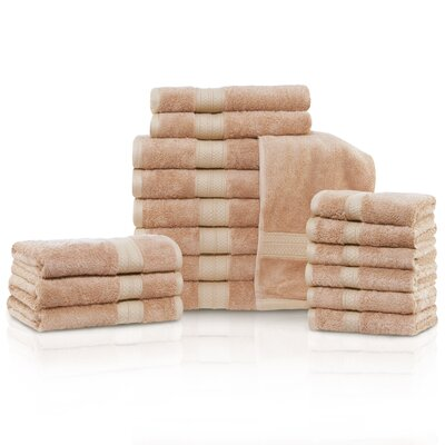 Cullen 18 Piece Towel Set Color: Sand