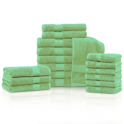Cullen 18 Piece Towel Set Color: Spring Green