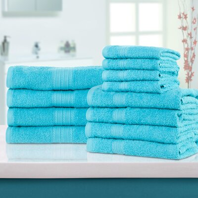 Patric 12 Piece Towel Set Color: Turquoise