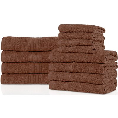 Patric 12 Piece Towel Set Color: Brown